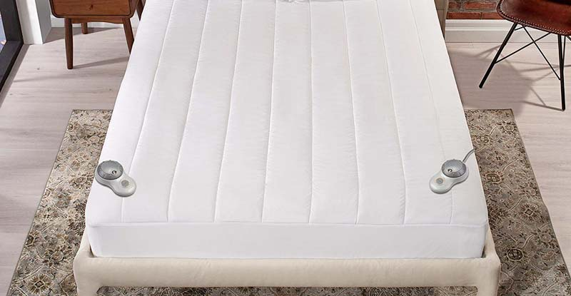 Sunbeam Quilted Polyester Heated Mattress Pad with EasySet Pro Controller
